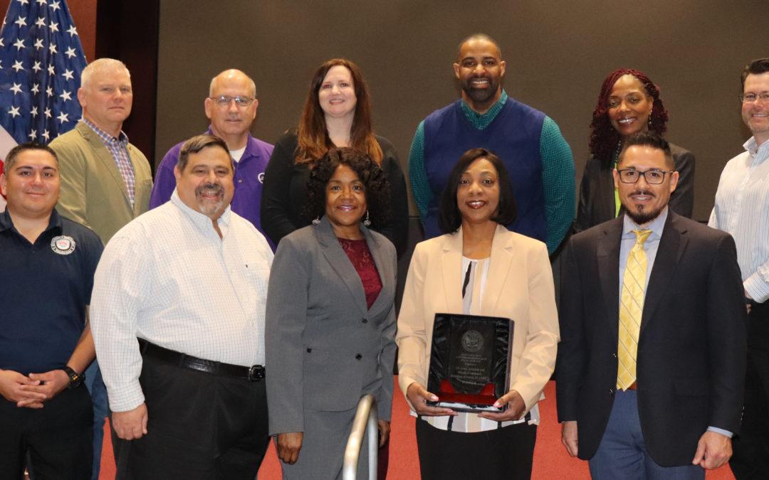 Josette Paschal Accepts Army Best Antiterrorism (AT) Program Award